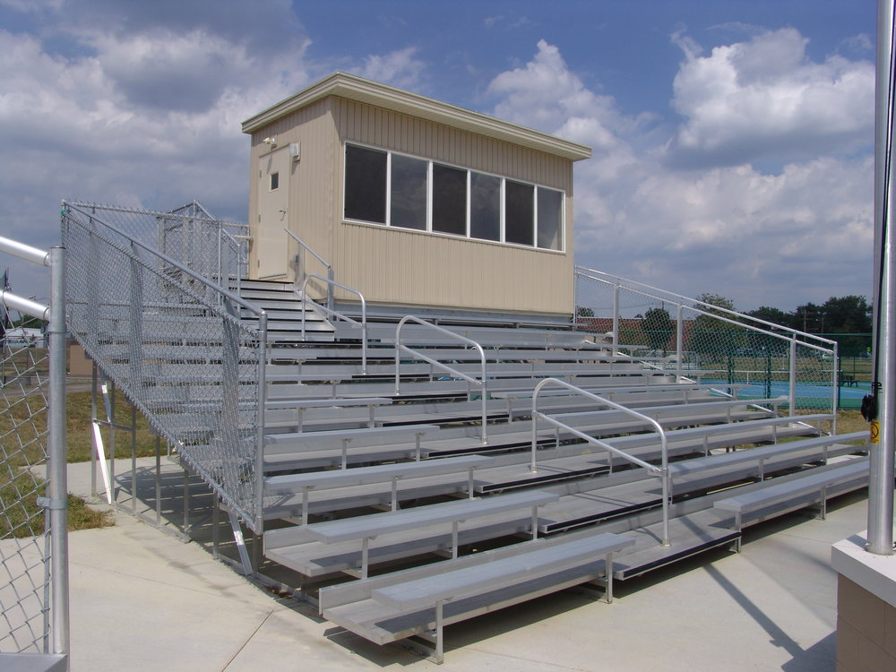8' x 18' Press Box, Entrance from Bleachers, View 2