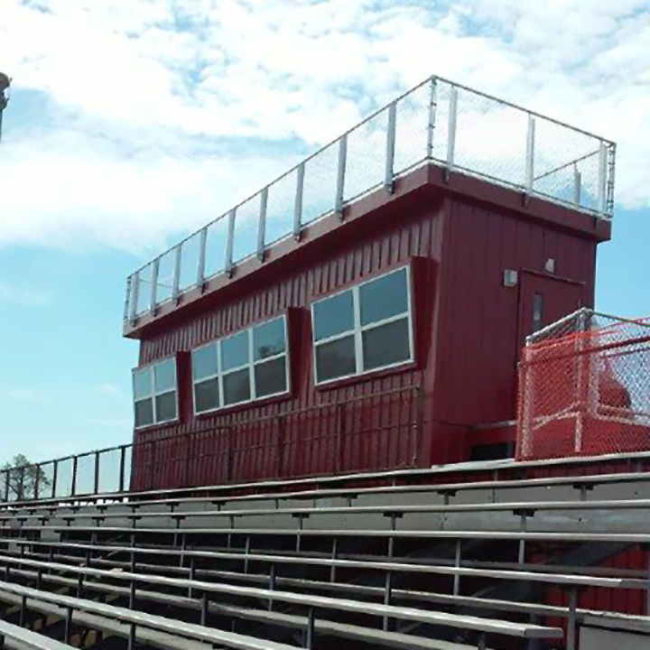 8'W x 36'L Press Box w/1st Floor Storage, View 2