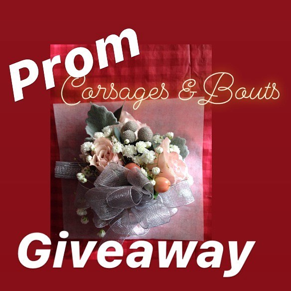 "WIN a FREE Corsage OR Boutonniere for PROM. I am giving away 3 of each so  6 WINNERS!  Anyone can enter so tell everyone you know to enter for you. 😉 Here's how to enter 1. Follow @CCandBout 2. Comment your first name and BOUT or CORSAGE (which one you want to win) 3. Tag your friends 1 per comment. (Each tag gets another entry in drawing)  If you have friends are not on social media tell them they can still enter via my website. Have them send a ""contact me"" form. Have them tell me your name as referral and you get an extra entry and they will be entered as well.  Giveaway ends on Friday, March 8th at 10:00pm MST Winners will be announced on March 9th! Winners can place orders for the date they need them, and pick up at my location in West Valley."