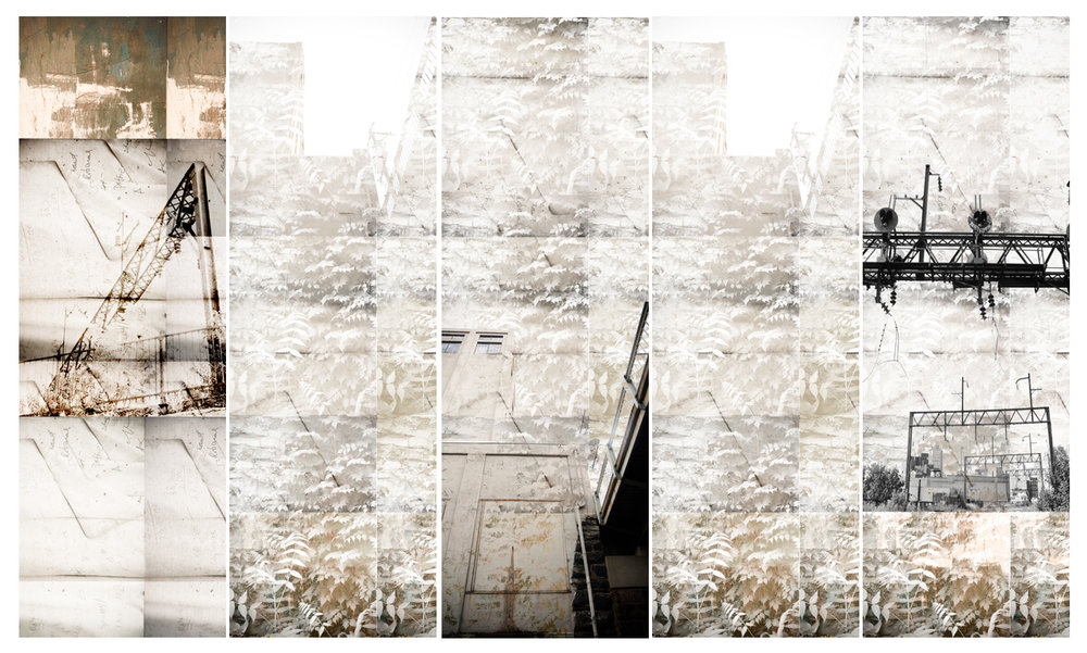 A photo-collage for  Brandywine Realty Trust.