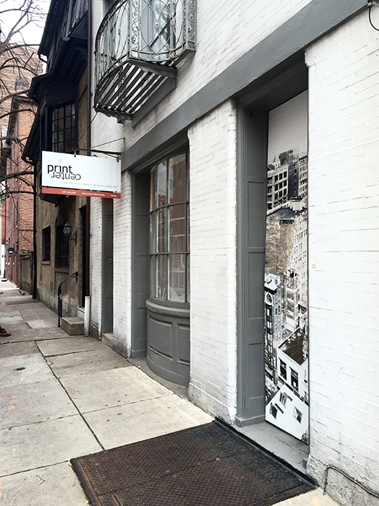 Photographic wall vinyl for the exterior of  The Print Center , Philadelphia.