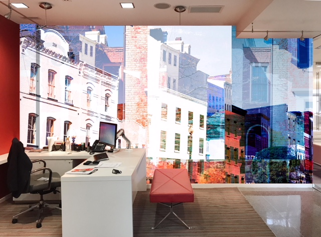 Rendering of the original design of Georgetown, D.C. in color, for  Hartman Design Group .