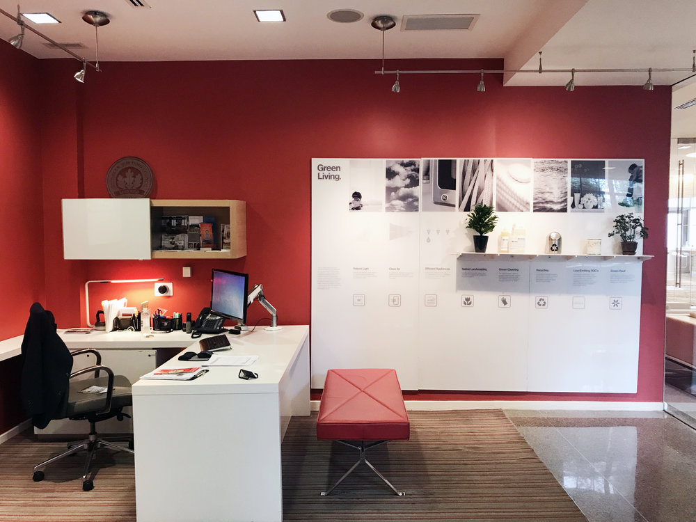 The leasing office of  WestEnd25  before installation.