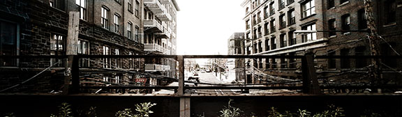 Original design. Julia photographed various scenes surrounding Cafe Liftfrom the elevated railway. Julia and Michael then met to review and select their favorite shots.
