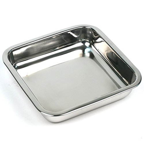 I use this    pan    for brownies and cakes, You can either grease it or use parchment paper. I have the    round one    as well.