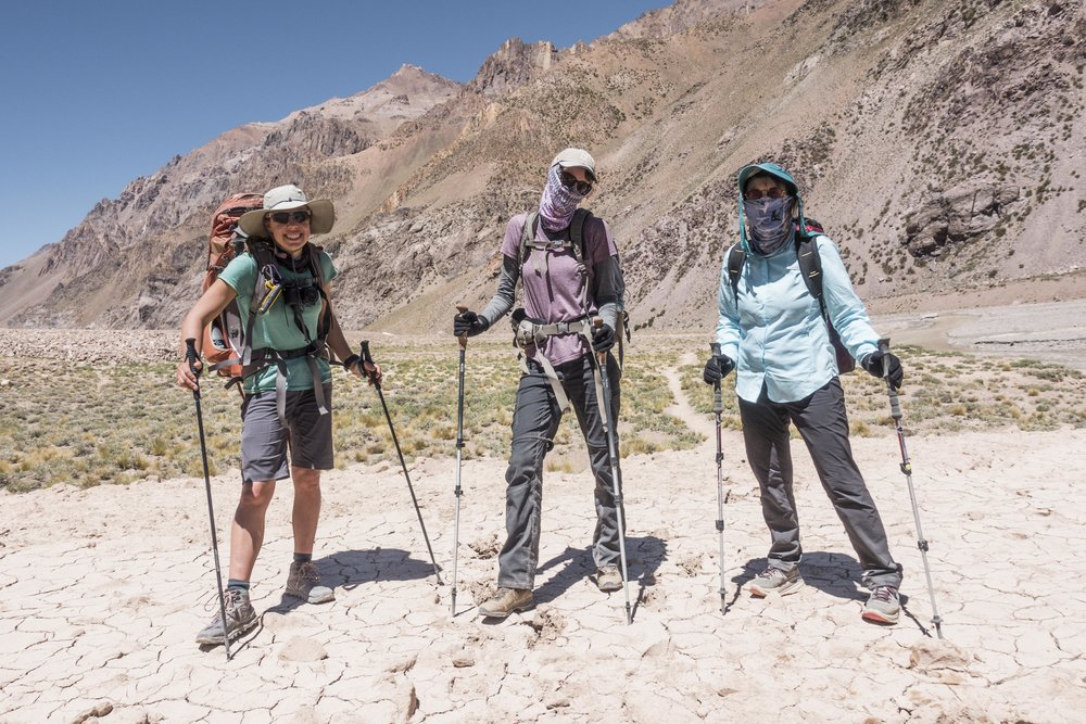 Tara, Kristin and Karin on Day 2 of the expedition