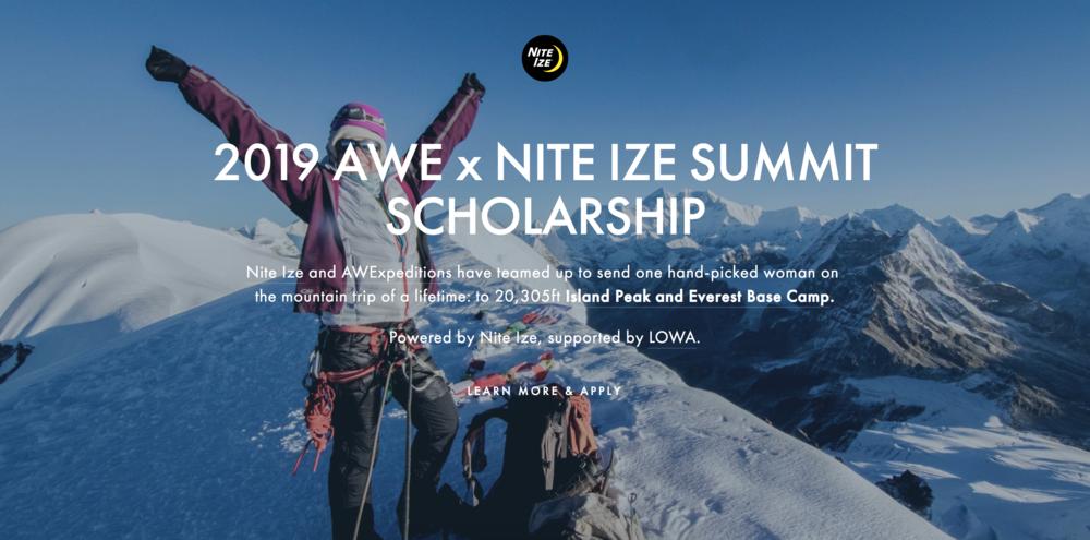 AWE x Nite Ize Summit Scholarship