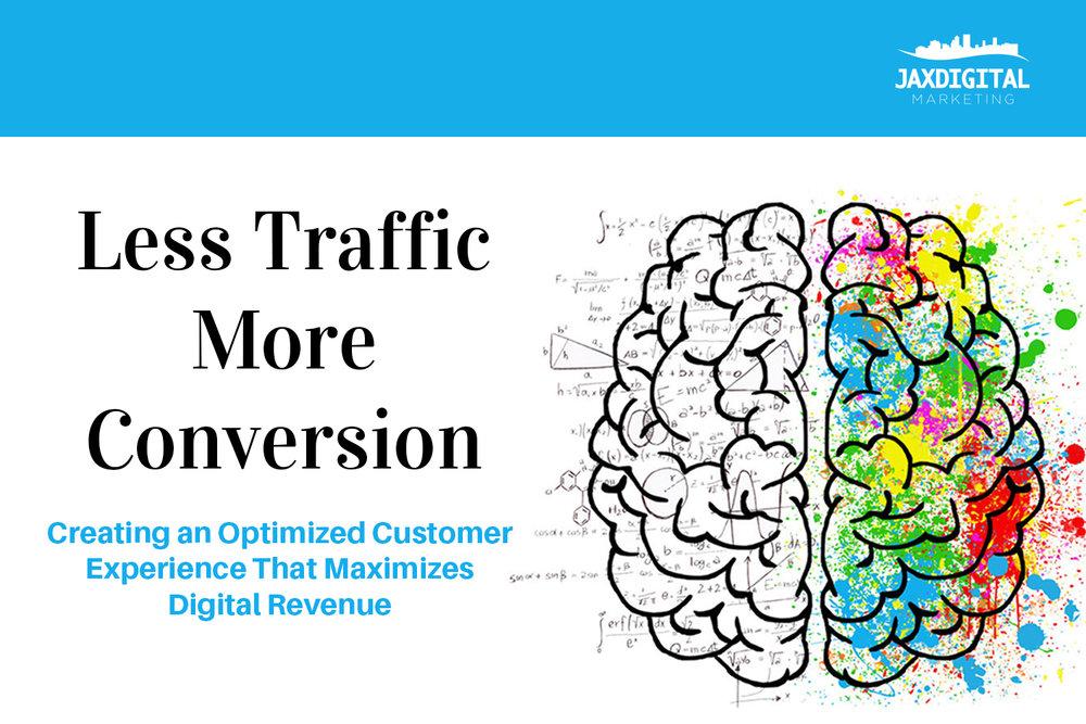 Less Traffic More Conversion