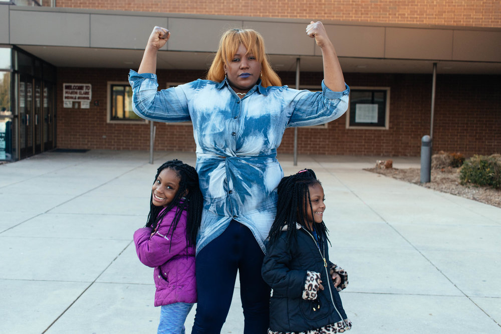 Brenda and her two daughters. Photo by Kristen Trudo.
