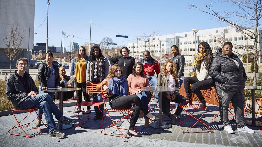 The inaugural cohort of Tomorrow Builders. Photo by Izaiah Johnson.