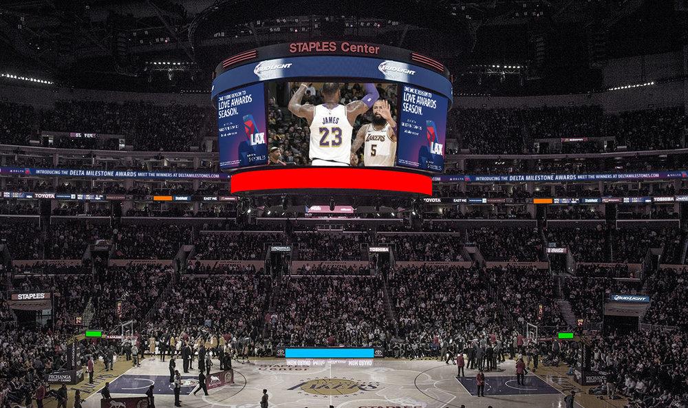 Staples Center Placement