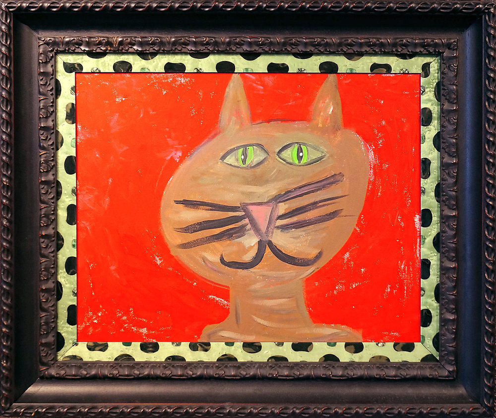 Cool Cat - two frames were stacked together for a one-of-a-kind design