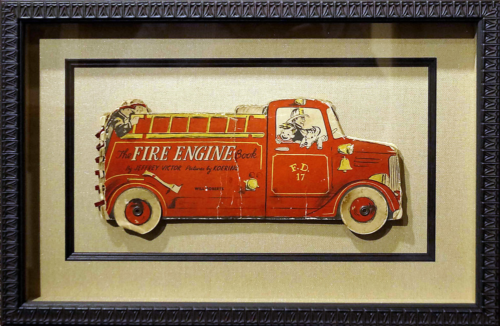 Children's Firetruck Book - 3-D Shadowbox with a fillet for extra flair