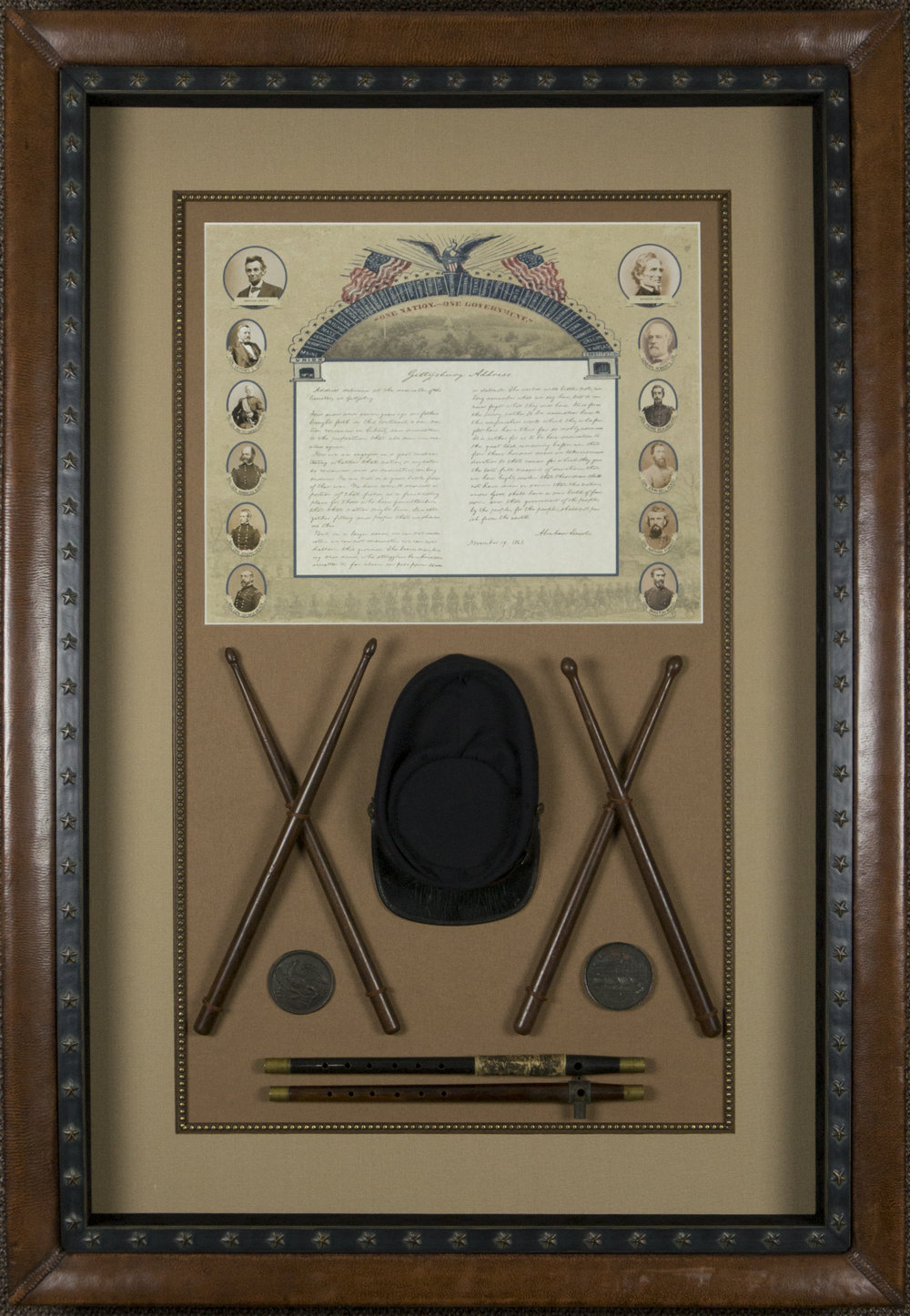 PRIVATE COLLECTION HISTORIC ARTIFACT DISPLAY SHADOWBOXES