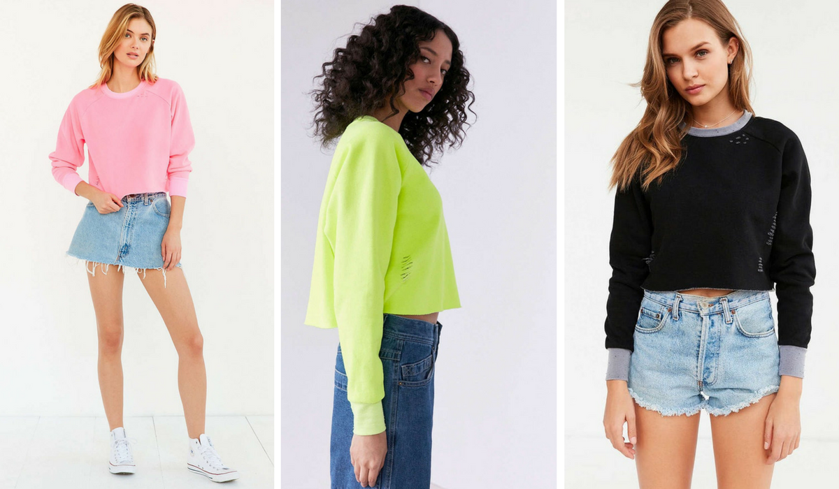 Urban Outfitters Crewnecks in three different colors