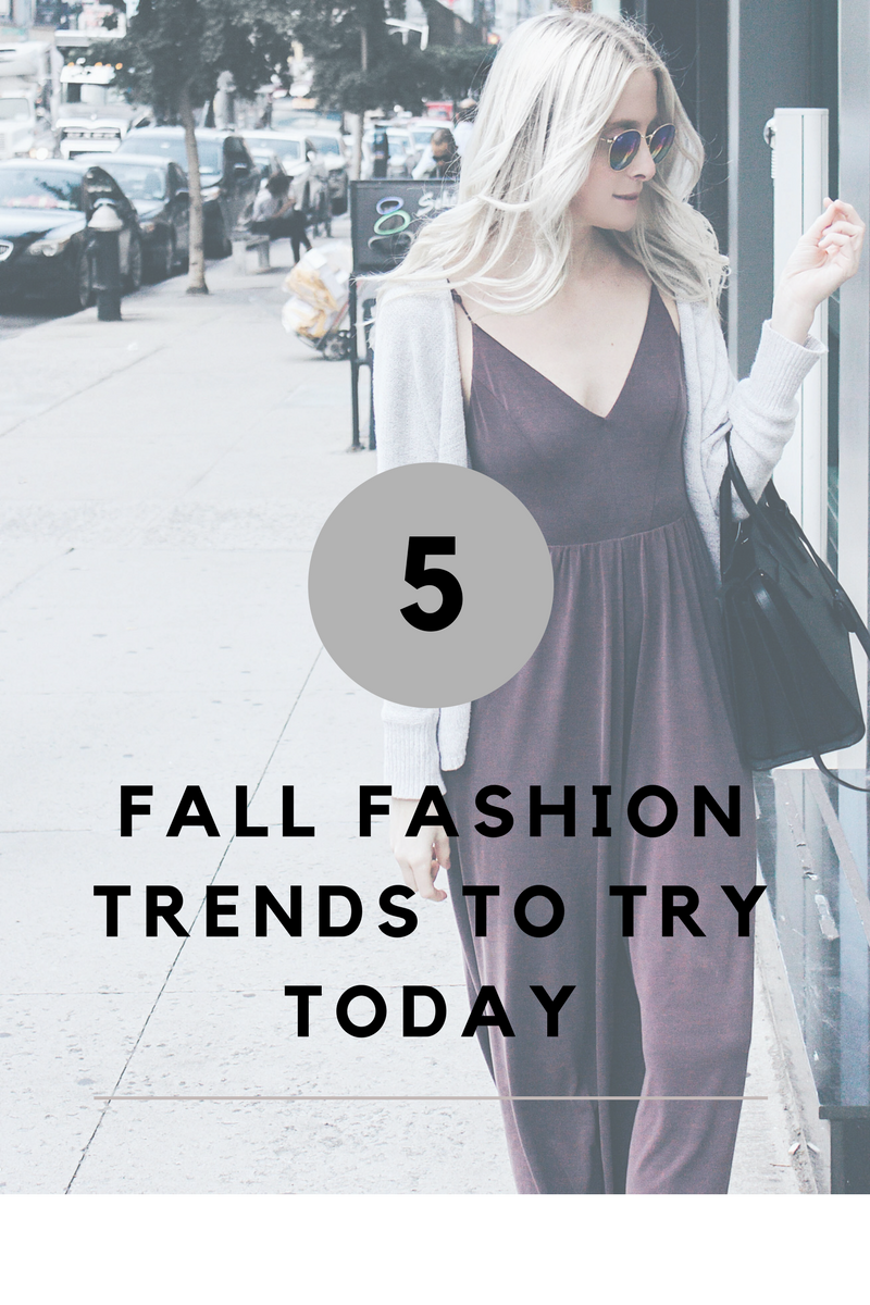 5 fall fashion trends to try