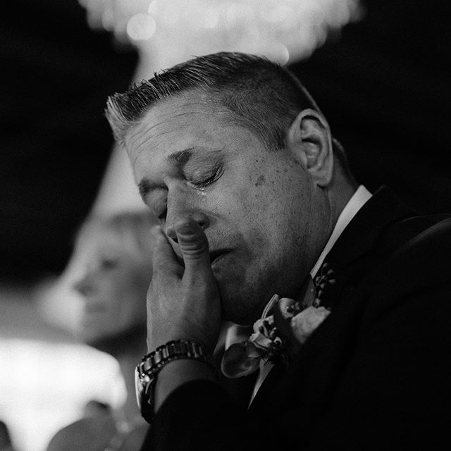 "This is hands down one of my favorite images that I've taken at a wedding. Whenever I'm shooting, I constantly try my best to stay aware of my surroundings as well as anticipate things. I pay attention. I make mental notes of what matters most to you. I do love a ""pretty picture"" but intimate and emotional moments like this are always my favorite."