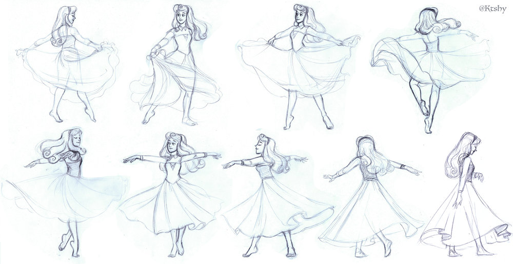 Sleeping Beauty referencing poses from  bodiesinmotion.photo