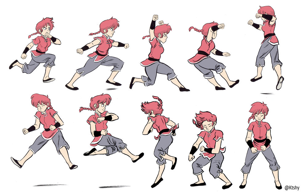 Ranma referencing poses from  bodiesinmotion.photo