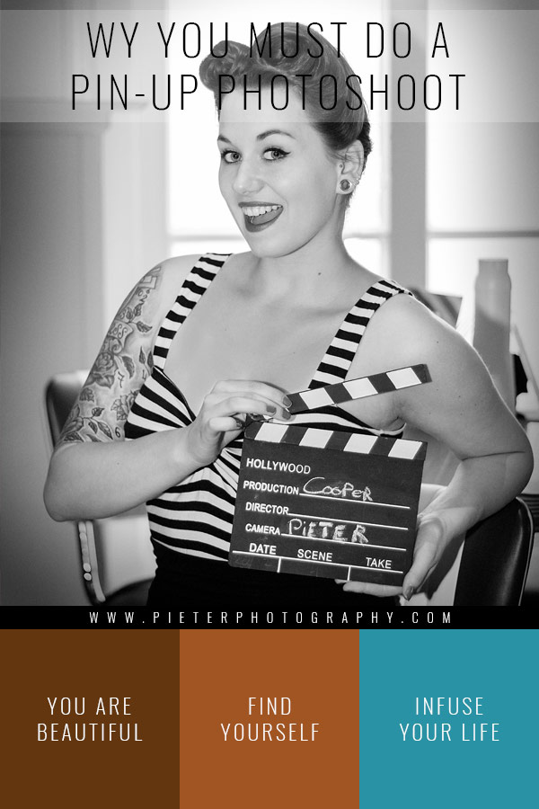 Pin-up Photo session by Pieter Photography in Black and White