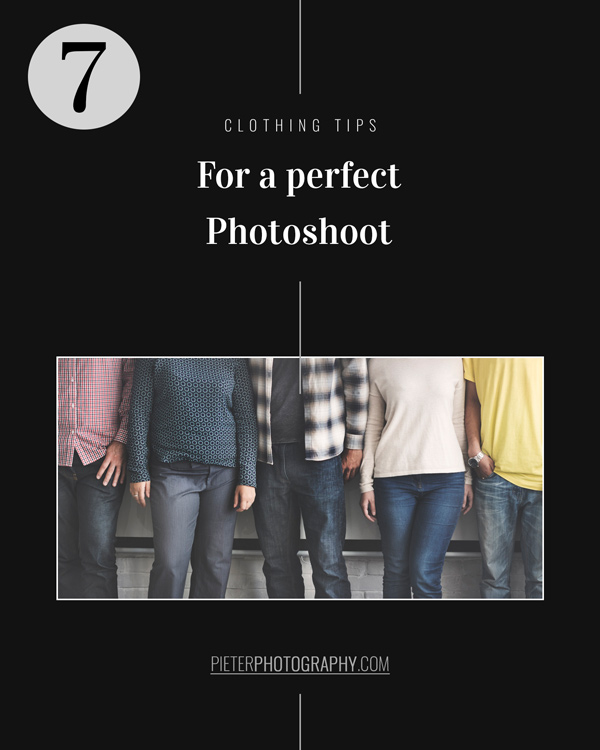 7 Clothing tips for a perfect photoshoot
