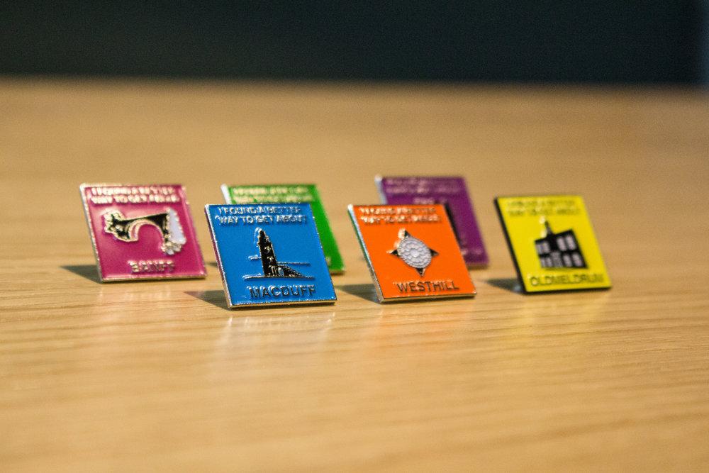 Aberdeenshire Council GetAbout badges