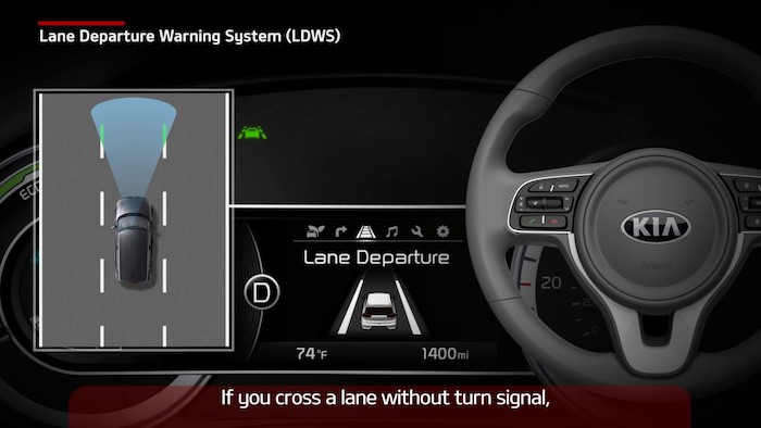 lane departure warning system kia sorento dashboard