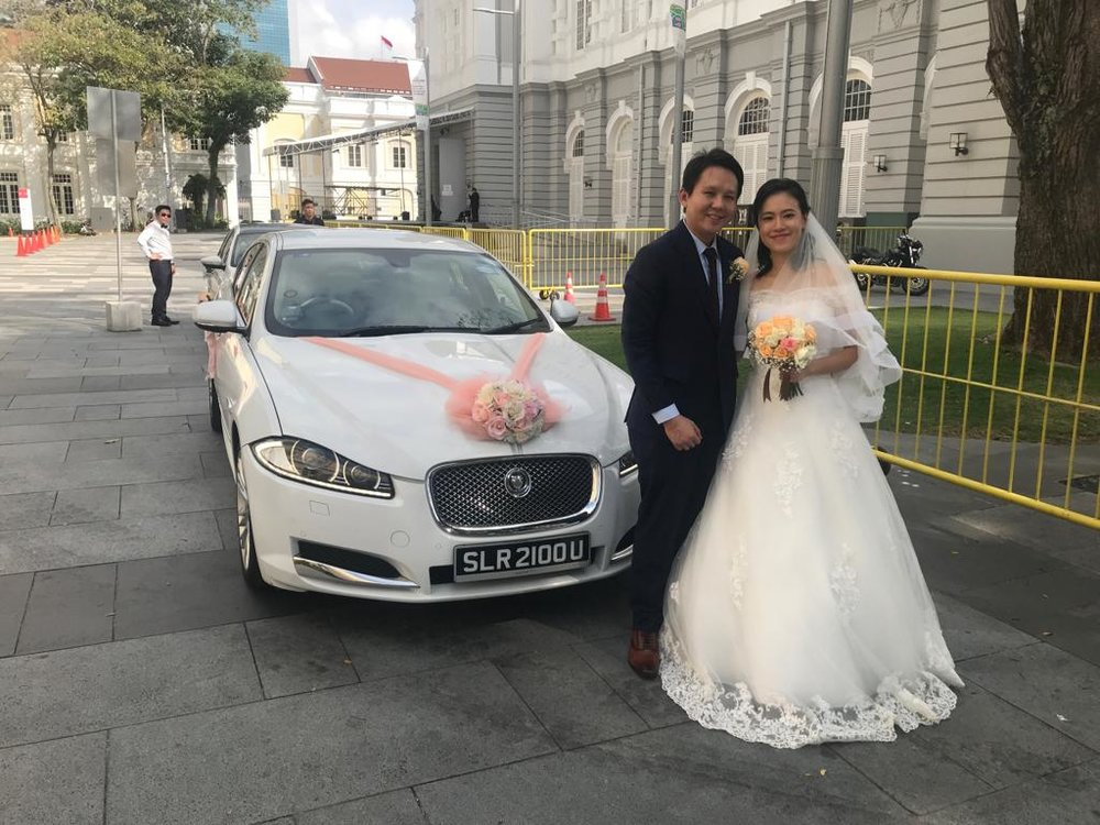 Jaguar XF wedding car
