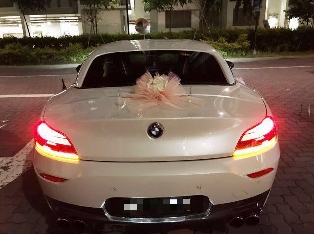 BMW Z4 wedding car