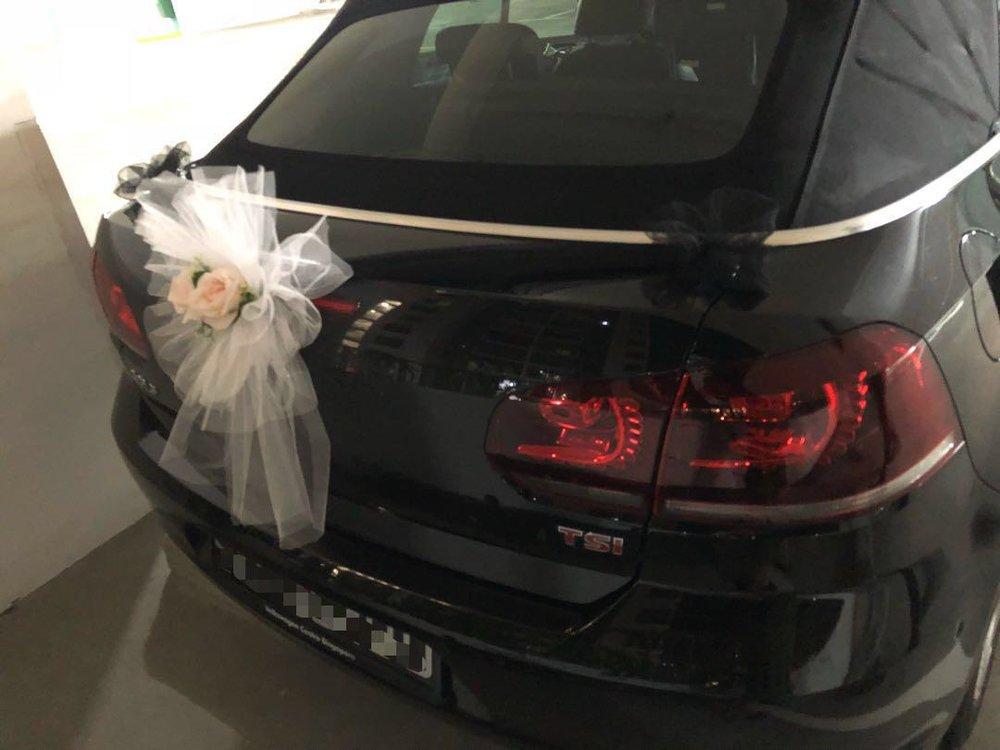 VW Golf Wedding Car
