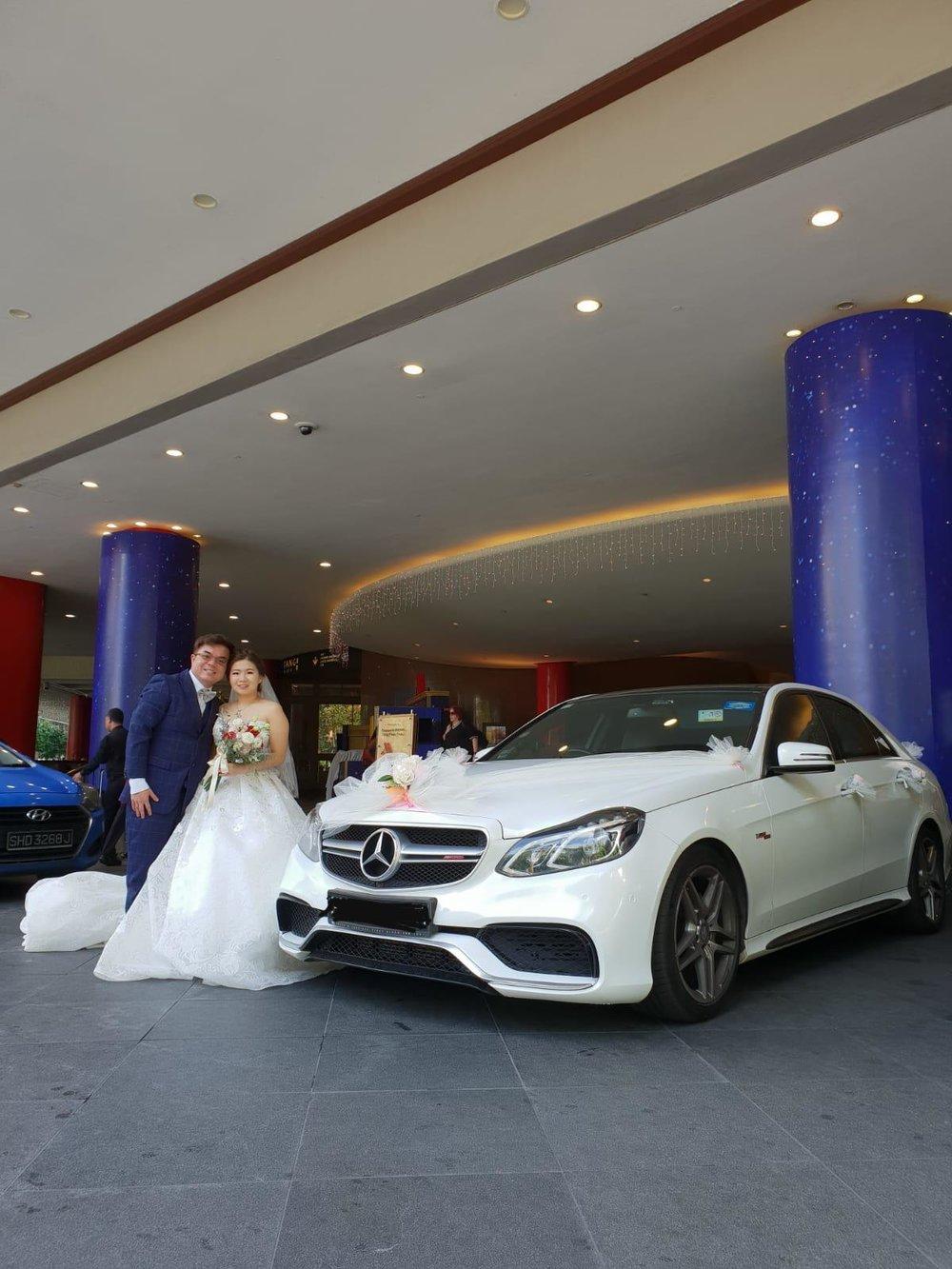 Mercedes Benz E Class Wedding Car at Orchard