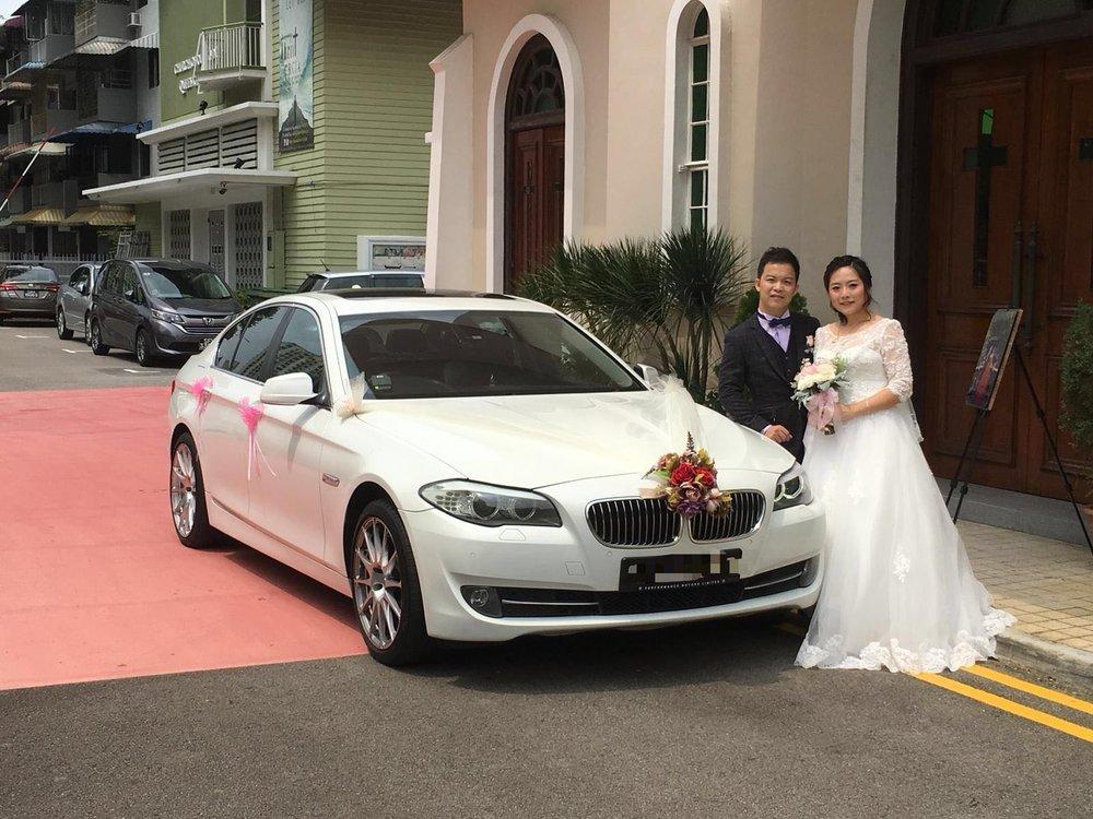 BMW 5 series F10 wedding car