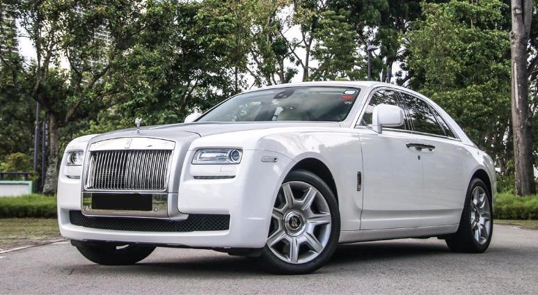 rolls royce ghost wedding car