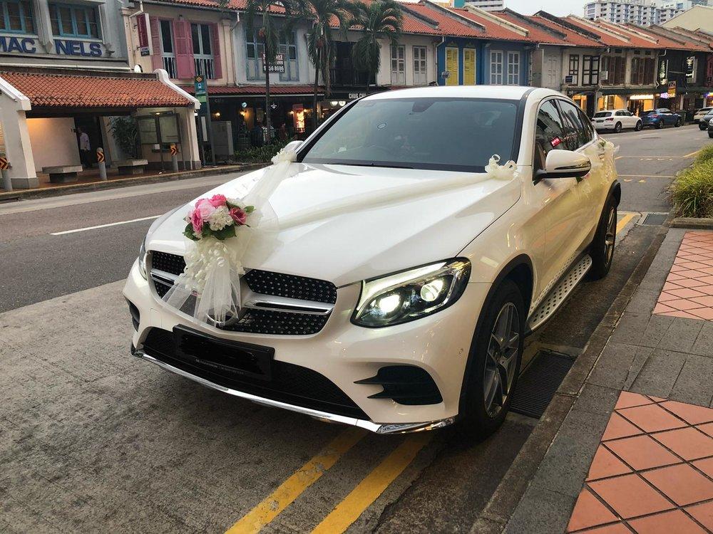 mercedes sus wedding car