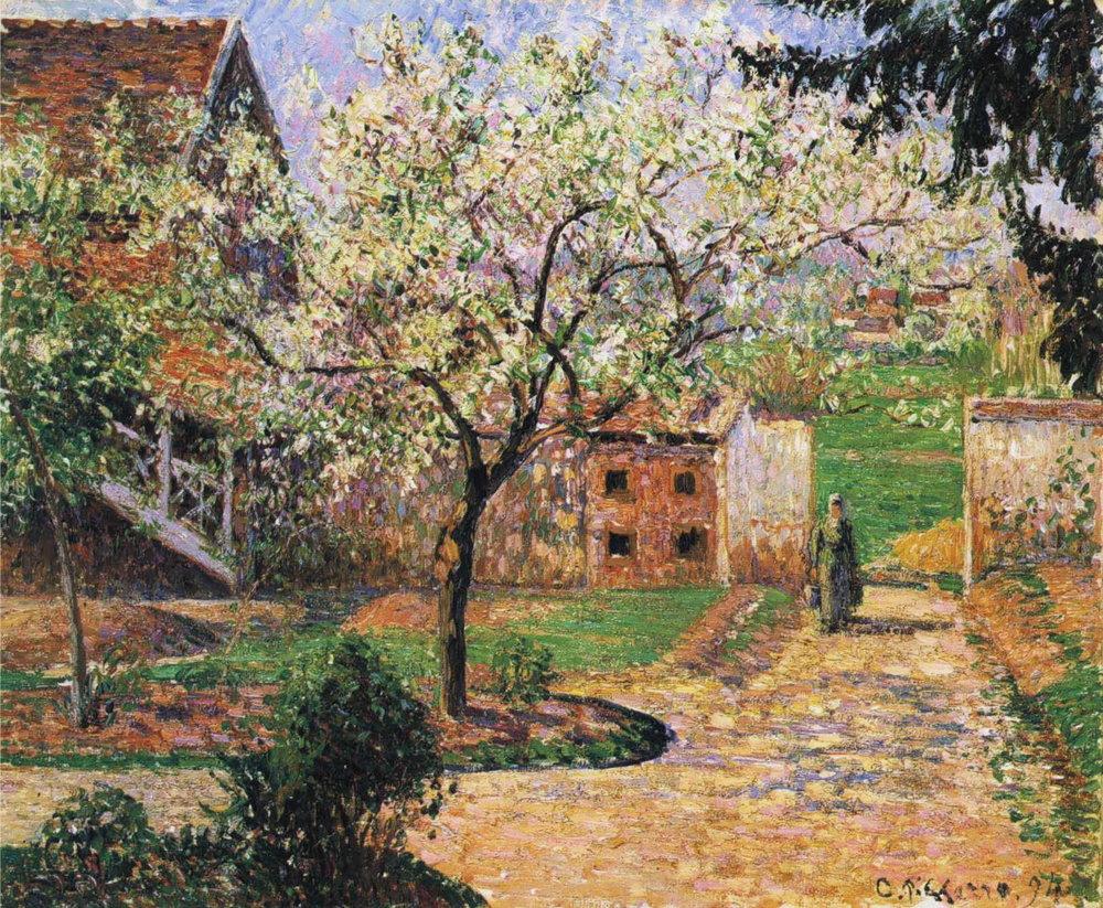 Plum Tree in Blossom  by Camille Pissarro, 1894