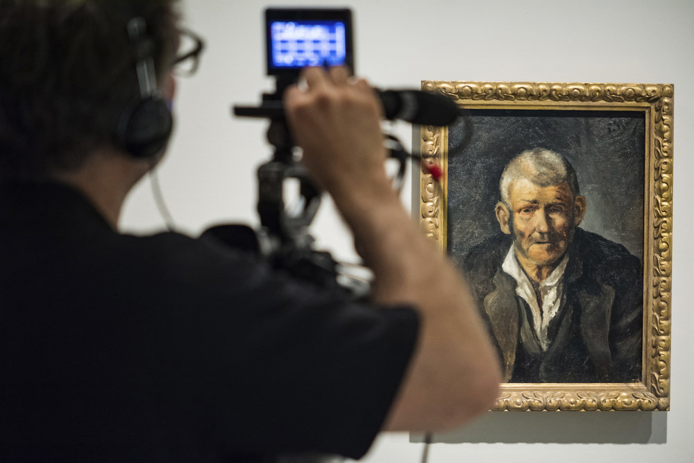 Old Man (Picasso, 1895), Filming Museu Picasso, Barcelona, EOS Young Picasso © EXHIBITION ON SCREEN (10).jpg