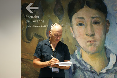 EOS Cézanne - Phil Grabsky at Portraits de Cézanne exhibition ® EXHIBITION ON SCREEN (David Bickerstaff)