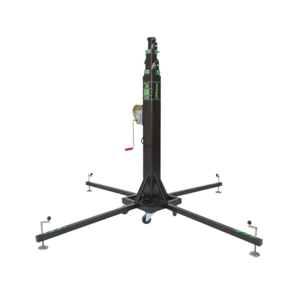 Telescopic lifting tower.