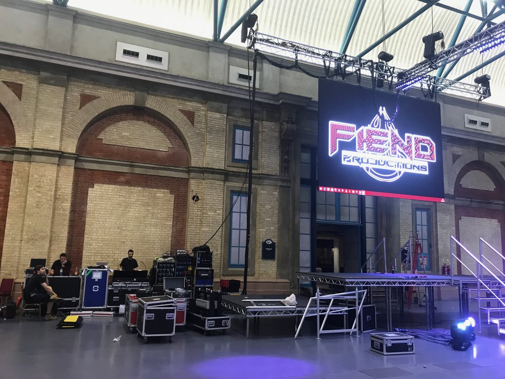 Fiend production on LED screen as a test.