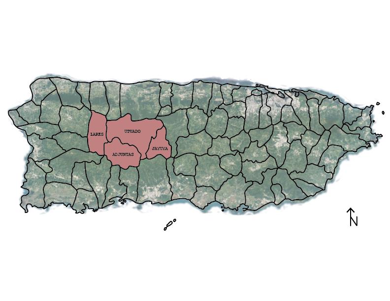 Map of municipalities where mining was proposed - By Garrett Burnham