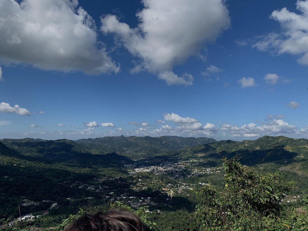 From the peak in Bosque Escuela la olimpia