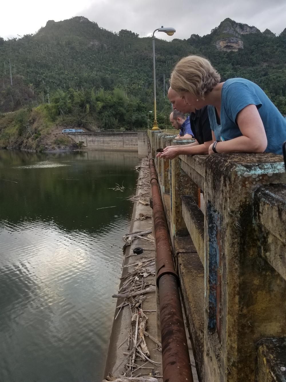 Examining the debris in the dos bocas RESERVOIR