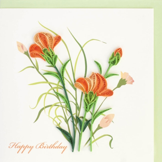 Peach Carnations Happy Birthday