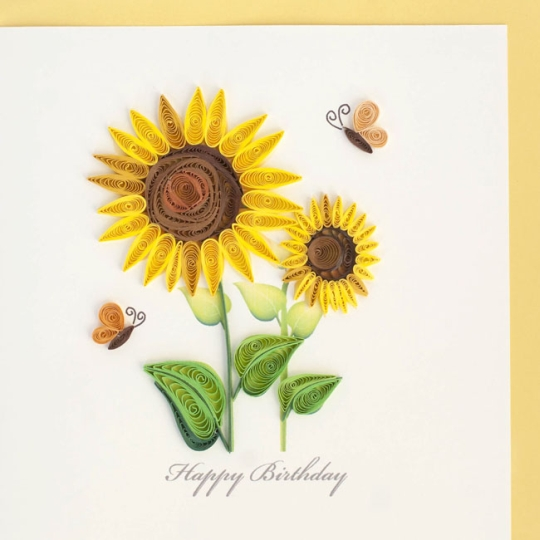 Sunflowers Happy Birthday Card