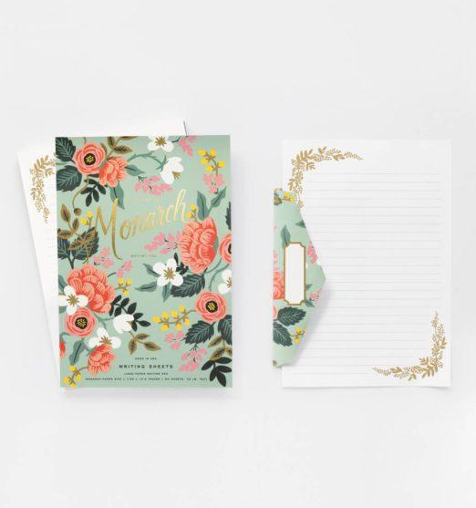 Mint Birch Monarch Writing Pad + Envelopes