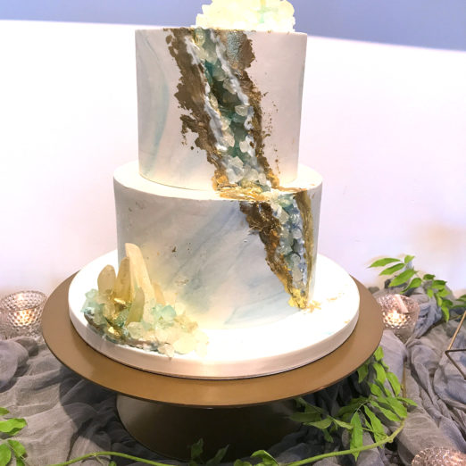 geode cake for baby shower