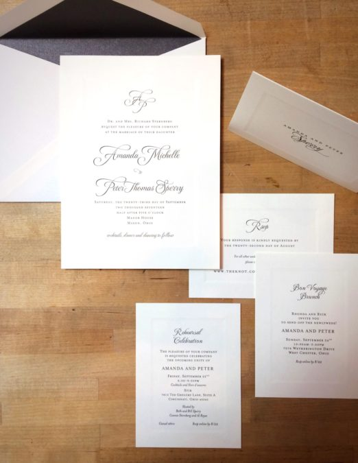 custom stationery by Poeme
