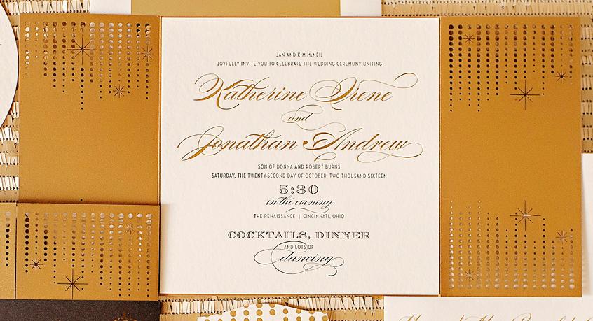 main letterpressed invitation