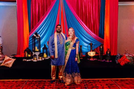 Cincinnati wedding celebration with traditional Indian elements.
