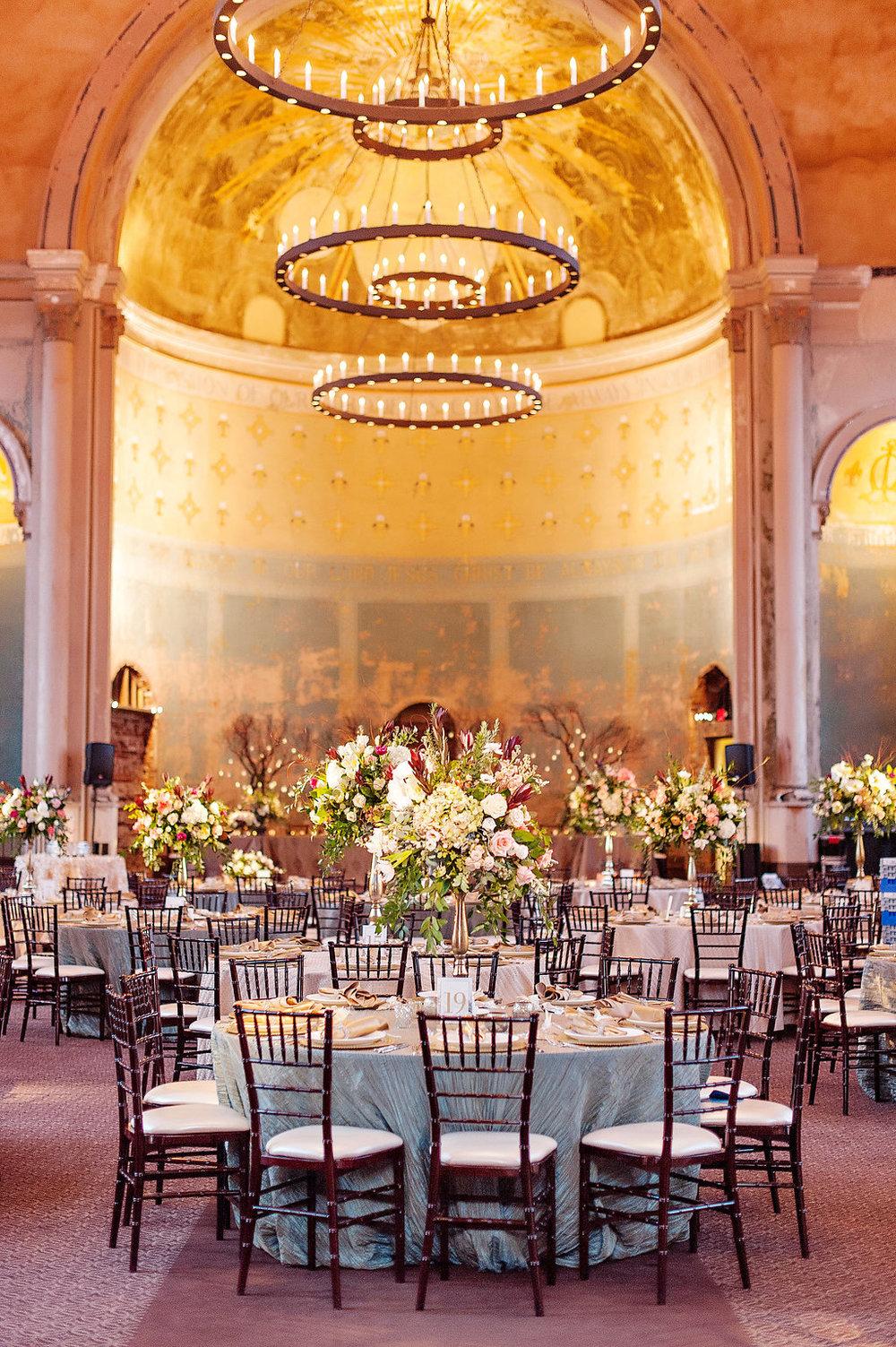 Monastery Event Center wedding reception. Photo Kortnee Kate Photography